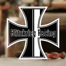 Blitzkrieg Racing Iron Cross Sticker Aufkleber Käfer Bus Bug schwarz 120mm ✔