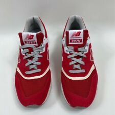 New Balance Mens 997H Sneakers Red White CM997HDS Lace Up Low Top Shoes 9 D