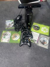 Microsoft Xbox 360 S 250 Gb Black Console, 3 controllers, Kinect 6 Games!