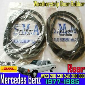 For Mercedes Benz W123 Rear Right Left RH LH Weatherstrip Door Rubber Set x2