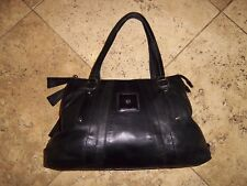 Modalu London gorgeous large soft black leather tote shoulder bag 3 sections
