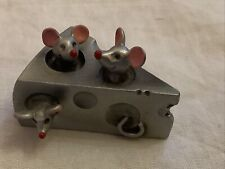 Vintage 1983 Hudson SELANGOR PEWTER Mice In Edam Cheese Wedge 2911 Signed