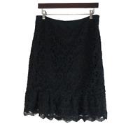 WHBM White House Black Market Lace Skirt Black Size 8