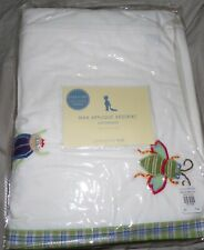 New Pottery Barn Kids Bugs Max Applique Crib Bed Skirt