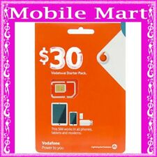 Vodafone◉$30 Credit Prepaid SIM CARD◉Unlimited Calls & Text◉Upto 9 GB Net Data