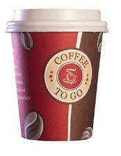 100 Top Hartpapier 200 ml Coffee to go Becher Pappbecher Kaffeebecher mit Deckel
