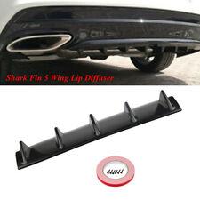 "1PC ABS Car SUV Shark Fin 5 Wing Lip Diffuser 23"" x6"" Rear Bumper Chassis Black"