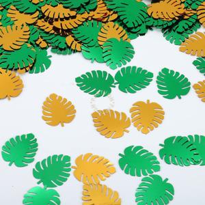 Tropical Palm Leaf Confetti, 300PCS Green Tropical Leaves Table Confetti for Bab