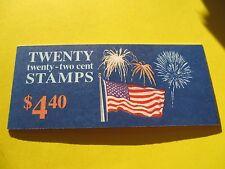 US Postage Stamps 1 BOOKLET Scott #2276A FLAG N FIREWORKS   22 cent MNH