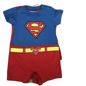Baby Boys Superbaby 3-6 Month Sleepsuit / Bodysuit / PJS with Removable Cape