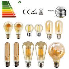 E27 LED Filament Retro Bernstein Vintage Nostalgie Birne Leuchtmittel Glühbirne
