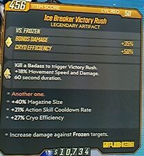"Borderlands 3 Legendary Artifact ""ICE BREAKER VICTORY RUSH"" level 50 XBOX ONE"