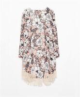 Vintage Retro Womens Boho Hippie Loose Style Kimono Coat Cape Blazer Jacket