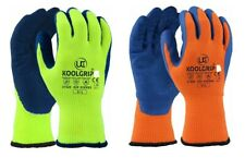 NEW  COATED THERMAL  WARM SAFETY WORK GLOVES GARDEN GRIP BUILDERS GARDENING