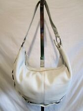 Hobo International Large White Leather Chain Hobo/Shoulder Handbag