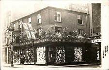 Preston. Gooby's Millinery Shop Decorated for Royal Visit. Card by Delph & Co.