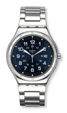 SWATCH IRONY BLUE BOAT Watch yws420g Analogue Stainless Steel Silver
