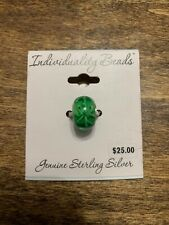 Kohl's Individuality Sterling Silver Glass And Crystal Spacer Bead, flower motif
