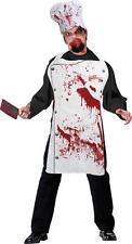 Halloween Zombie Chef Set sangrienta Delantal Y Sombrero Fancy Dress Set Kit de sangre teñido
