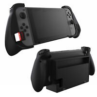 Dockable Trigger Grips Case with Game Storage for Nintendo Switch + Thumb Grips