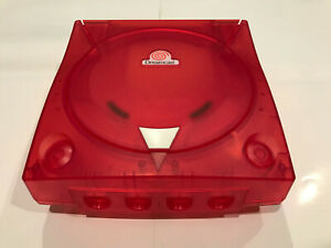 SEGA Dreamcast Console 3rd Party Translucent Case Shell Transparent Crystal Red