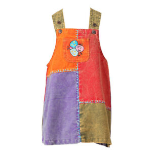 The Hippy Clothing Co. - Girls Patchwork Dungarees Dress