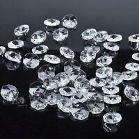 20x cristal verre lustre partie prismes perles octogonales Decor 14mm