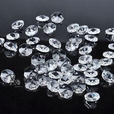 20 PCS  Crystal Glass Chandelier Part Prisms Octagonal Beads Decor 14MM VSUS