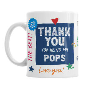 Pops Gift Mug Present Keepsake I Love Novelty Cup For Birthday Christmas Xmas
