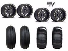 "Method 406 Beadlock 14"" Wheels Rims Black 28"" Sand Stripper/HP XP Turbo 1000 900"