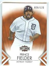 2012 Topps Triple Threads AMBER #26 PRINCE FIELDER Serial #26/125 RARE! TIGERS!