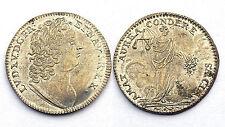Jeton AMAT AUREA CONDERE SAECLA. Louis XV° DIT LE BIEN AIMÉ. Argenté. Vers 1750