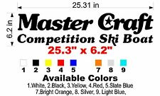 Classic MasterCraft Competition Ski Boat Decal