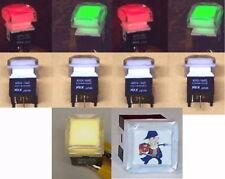 10 PCS lot - NKK illuminated DUAL LED pushbutton switch RED GREEN YELL - CUSTOM