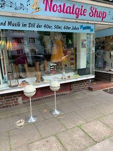 2 Stück 70er Grundig Audiorama 4000 Lautsprecher Tulip Fuß Alu, Original, Top !!