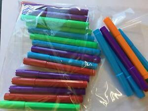 Pack Of 25x Mixed Bingo Felt Marker Pens Dabbers - GREAT QUALITY + VERY CHEAP !