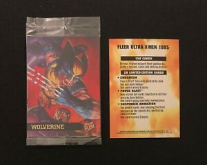 1995 Fleer Ultra X-Men Sealed Pack Rare Arby's WOLVERINE PROMO Card Yellow Back