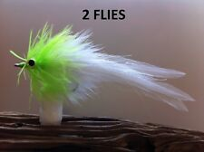 Seaducer/Deep Silhouette Fly 2 Flies White/Chartreuse #1/0,redfish,snook,stripe r