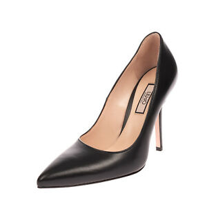 RRP €125 LIU JO Nappa Leather Court Shoes Size 40 UK 7 US 10 Heel Made in Italy