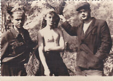 1955 Nude muscle young man students tourists 2 gay interest Russian Soviet photo