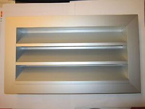 Helios Wetterschutzgitter WSG 40/20 Aluminium feststehende Lamellen