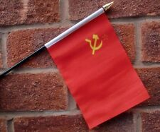 U.S.S.R. USSR flag PACK OF TEN SMALL HAND WAVING FLAGS RUSSIA RUSSIAN SOVIET