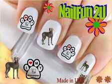"""Nail Art #155 Dog Breed """"I love my Weimaraner"""" WaterSlide Nail Decals Transfers"""