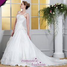 ♥ Brautkleid, Hochzeitskleid Größe 34 bis 50 Weiß oder Creme NEU+SOFORT+W003 ♥