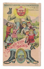 Solar Tip Shoes Trade Card Anthropomorphic Sun Philadelphia