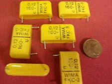 Condensatori Org. WIMA fkc 0,12uf (120nf) 160v = 26x15x7mm bipolare 6x 25502
