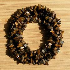"Lot of 3 x 36"" Tigereye Crystal Gem Chip Strands Dark & Golden Brown Stone Beads"