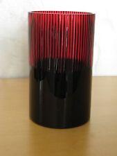 Fink Luxor Windlicht/Teelichthalter, Glas, dunkelrot, D:12 cm, H: 20 cm, neu