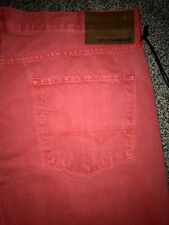 """NWT BIG STAR """"Division"""" straight leg red jeans men's size: 40x32, $94 Buckle"""