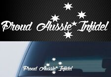 CAR UTE 4X4 DECAL jdm Proud Aussie Infidel Australia YTB yeah the boys 300mm